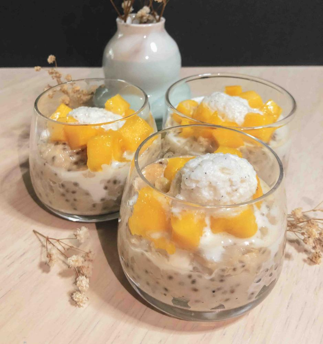 Coconut Oats Porridge Pudding