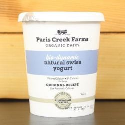 Organic Biodynamic Natural Swiss Yoghurt