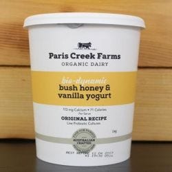 Organic Biodynamic Bush Honey Vanilla Yoghurt