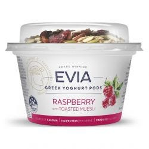 Greek Yoghurt Pods Raspberry with Toasted Muesli