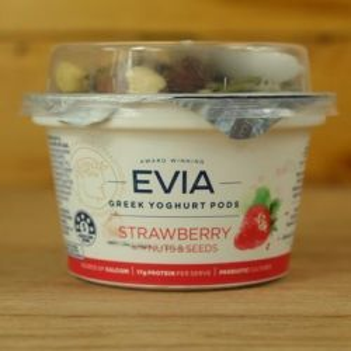 Greek Yoghurt Pods Strawberry with Nuts & Seeds