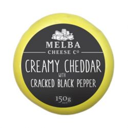 Creamy Cheddar with Cracked Black Pepper