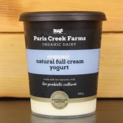 Organic Natural Full Cream Yogurt