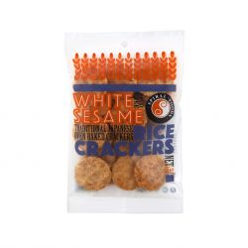White Sesame Brown Rice Crackers