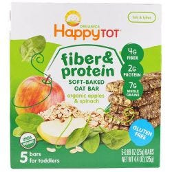 Organic Fibre & Protein Oat Bars Apples & Spinach