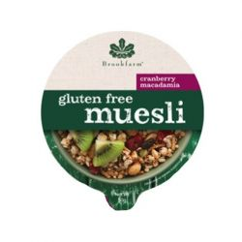 Gluten Free Macadamia Muesli with Cranberry