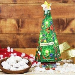 Christmas Tree Snowball Cookies
