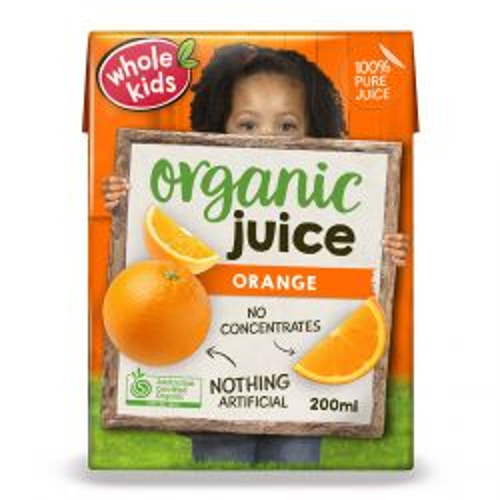 Whole Kids Orange Juice 200ml