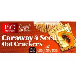 Caraway 4 Seed Oat Crackers