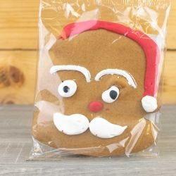 Santa Face Iced Gingerbread