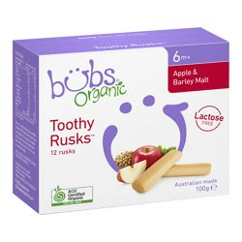 Organic Toothy Rusks - Apple & Barley Malt