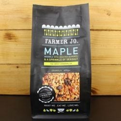 Maple Granola with Roasted Almonds & Sea Salt