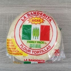 "La Banderita Flour Tortillas 6"" - Family Pack"