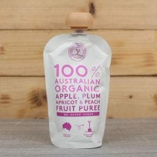 Organic Apple, Plum, Apricot & Peach Puree