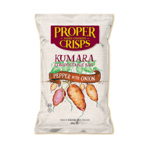 Compostable Kumara Pepper & Onion Chips