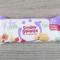 Organic Pear & Beetroot Smiley Squares