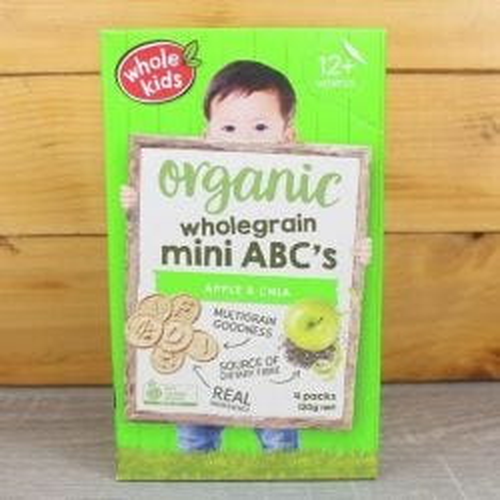 Organic Apple & Chia Mini ABC Biscuits - Multipack