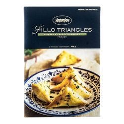 Fillo Pastry Triangles - Spinach & Cheese