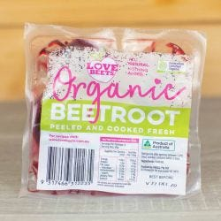 Organic Beetroot - Peeled & Cooked