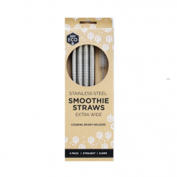 Straight Stainless Steel Smoothie Straws