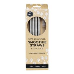 Stainless Steel Smoothie Straws - Straight