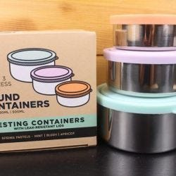 Pastel Round Nesting Containers 3 Piece Set
