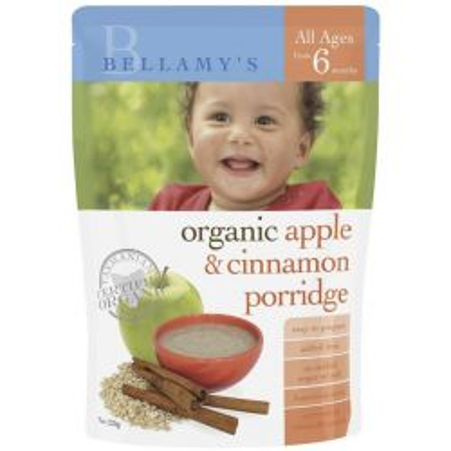 Organic Apple & Cinnamon Baby Porridge