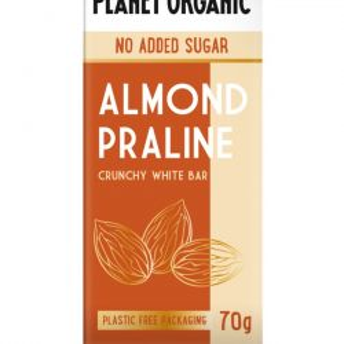 Organic White Almond Praline Chocolate