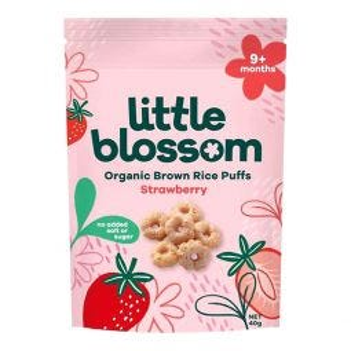 Organic Brown Rice Puffs - Strawberry